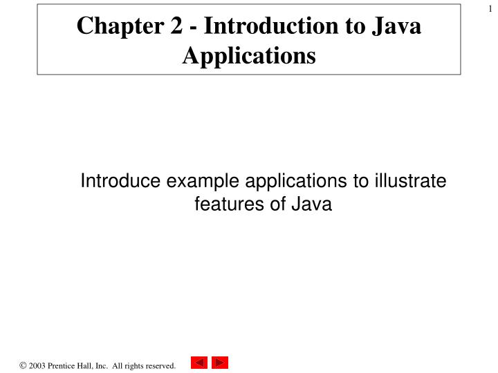 chapter 2 introduction to java applications n.
