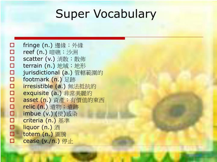 Super vocabulary