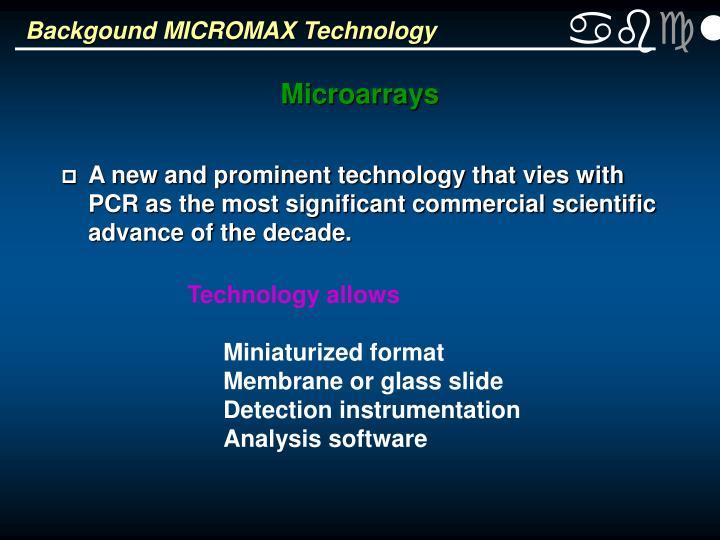 Backgound MICROMAX Technology