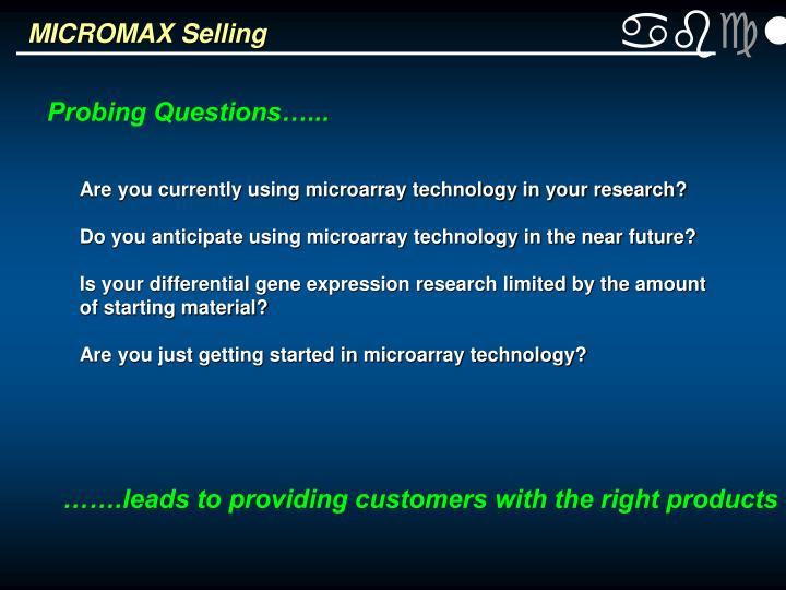 MICROMAX Selling