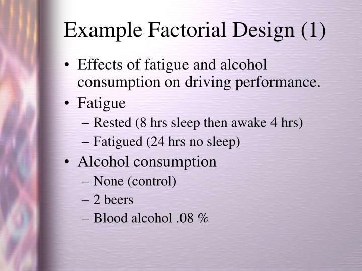 Example Factorial Design (1)