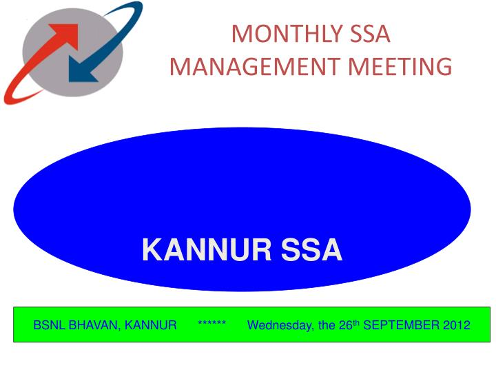 monthly ssa management meeting n.
