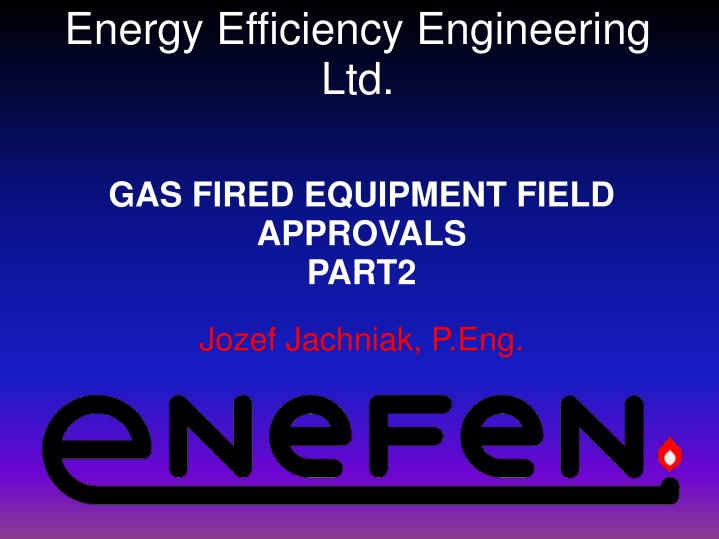 energy efficiency engineering ltd