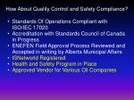 how about quality control and safety compliance