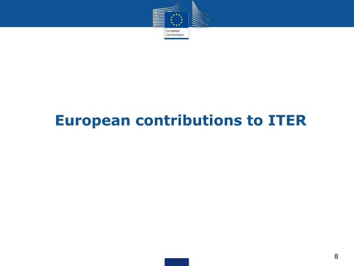 European contributions to ITER