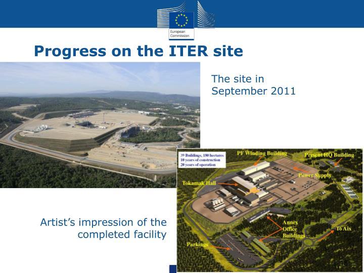 Progress on the ITER site