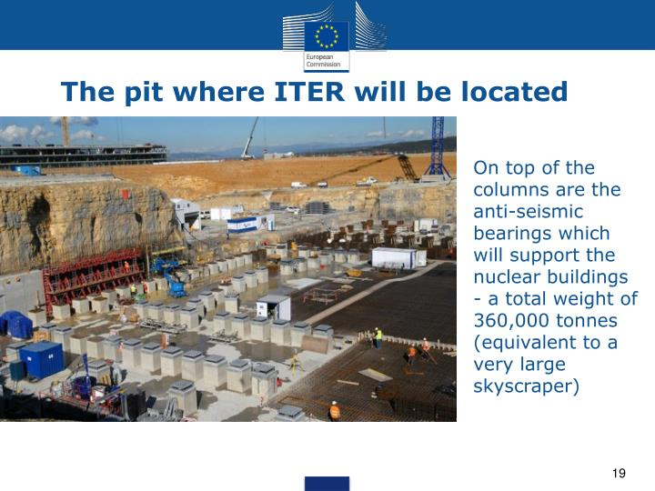 The pit where ITER will be located