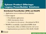 sybase product offerings legacy powerbuilder solutions