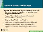 sybase product offerings