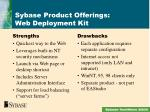 sybase product offerings web deployment kit2