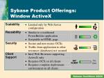 sybase product offerings window activex3
