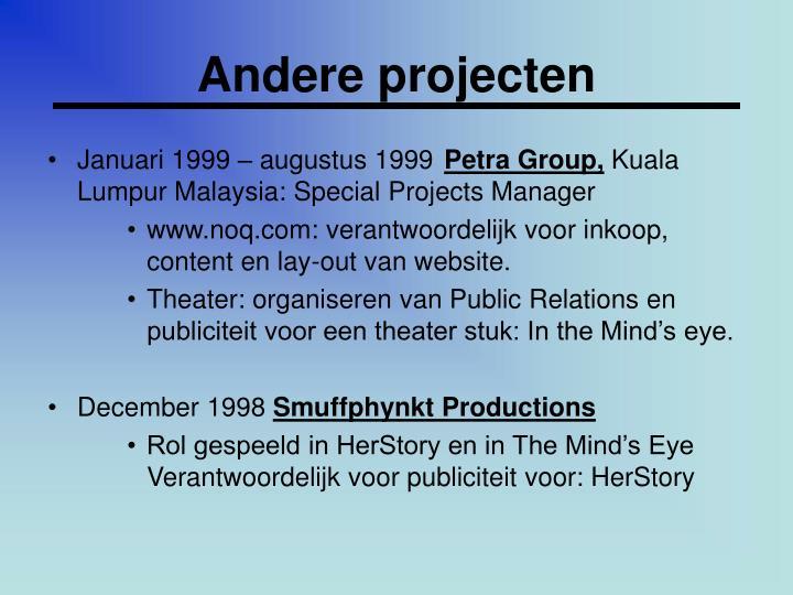 Andere projecten
