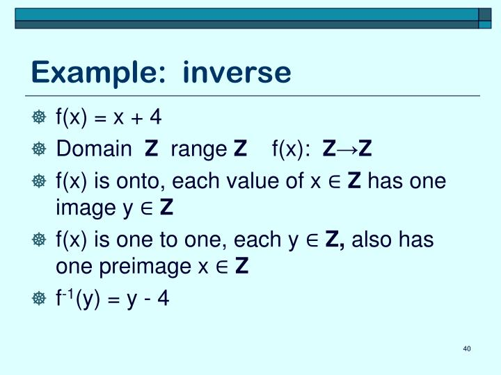 Example:  inverse