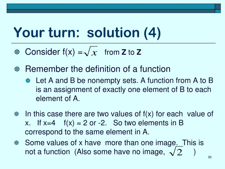 Your turn:  solution (4)