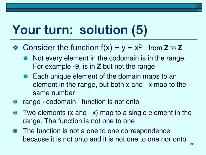Your turn:  solution (5)