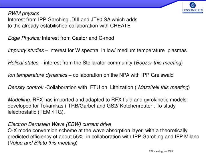RWM physics