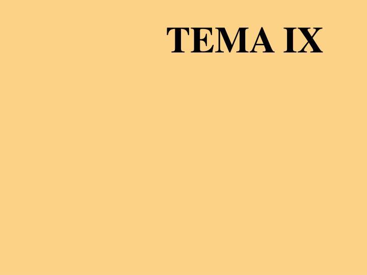 TEMA IX