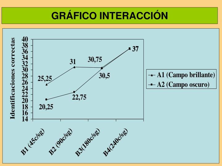 GRÁFICO INTERACCIÓN