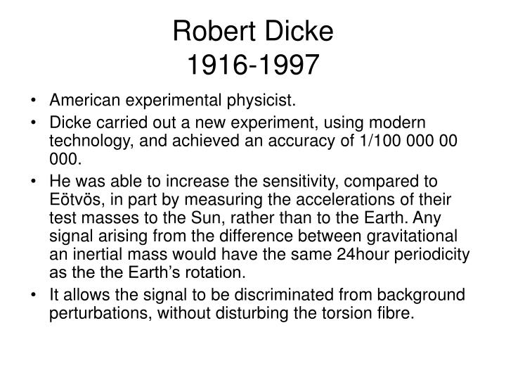 Robert Dicke
