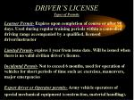 driver s license types of permits