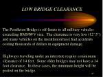 low bridge clearance