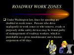 roadway work zones