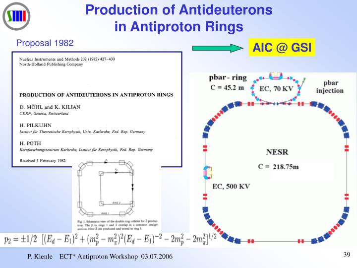 Production of Antideuterons