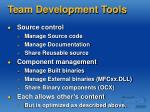 team development tools