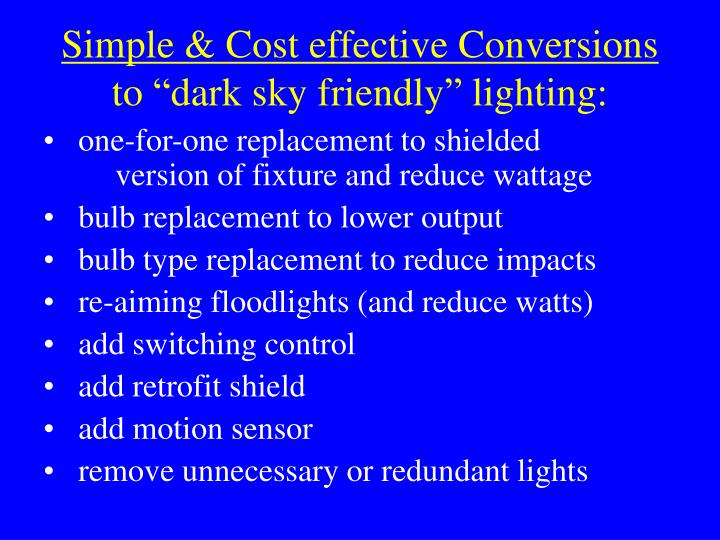 Simple & Cost effective Conversions