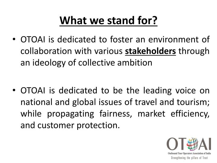 What we stand for?