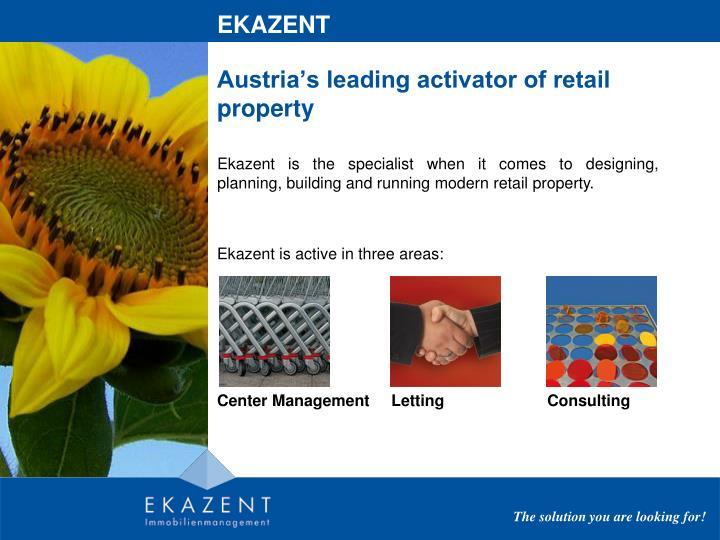 Austria s leading activator of retail property
