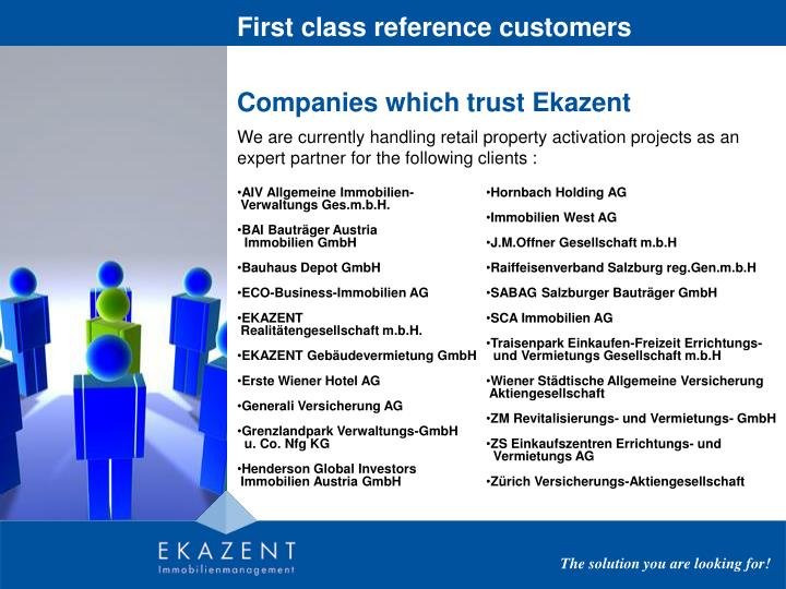 First class reference customers