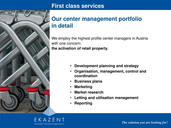 First class services