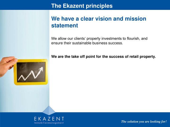 The Ekazent principles