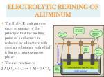 electrolytic refining of aluminum