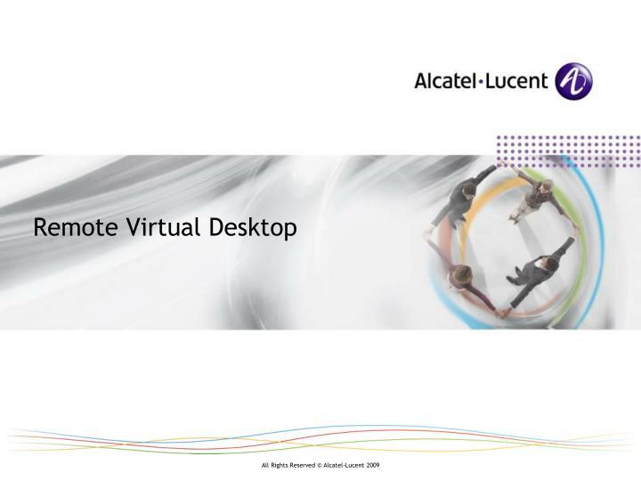 Remote Virtual Desktop