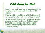 fcd data in net