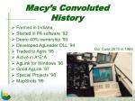 macy s convoluted history