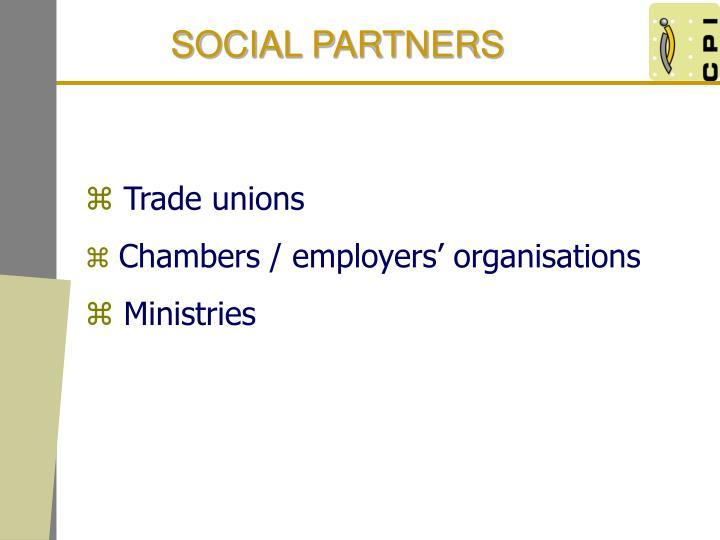 SOCIAL PARTNERS