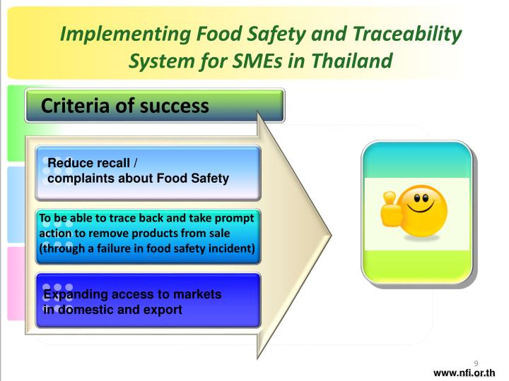 Implementing Food Safety and Traceability System for SMEs in Thailand