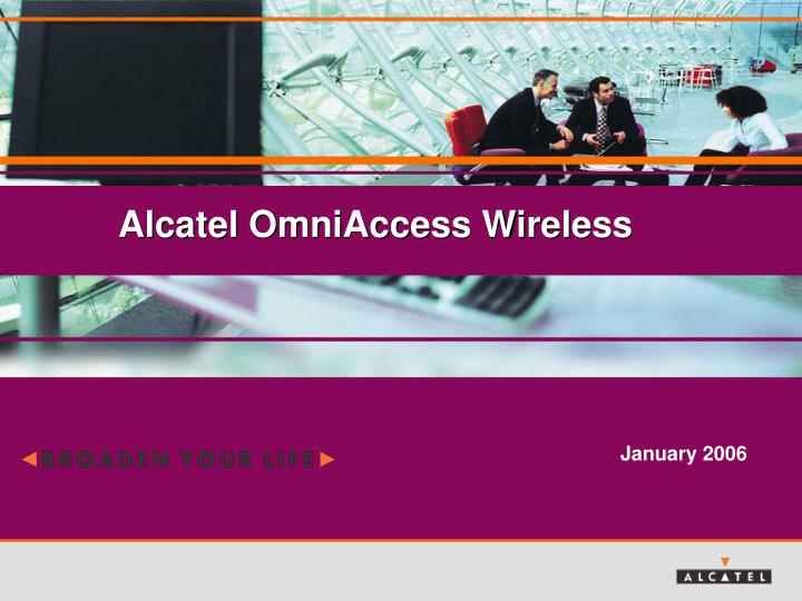 alcatel omniaccess wireless n.