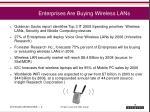 enterprises are buying wireless lans