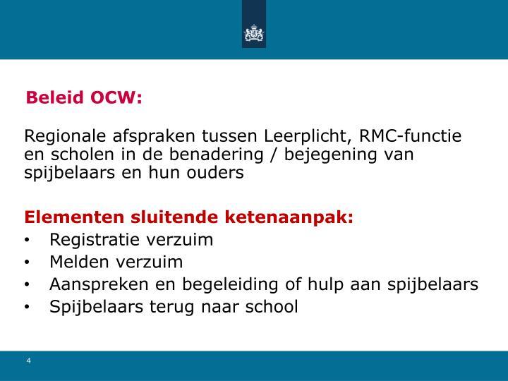 Beleid OCW: