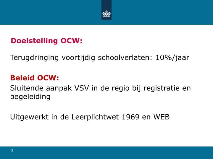 Doelstelling ocw