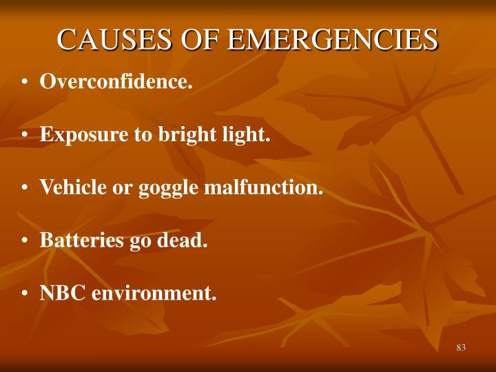 CAUSES OF EMERGENCIES