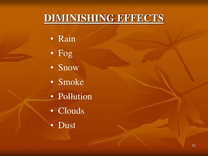 DIMINISHING EFFECTS
