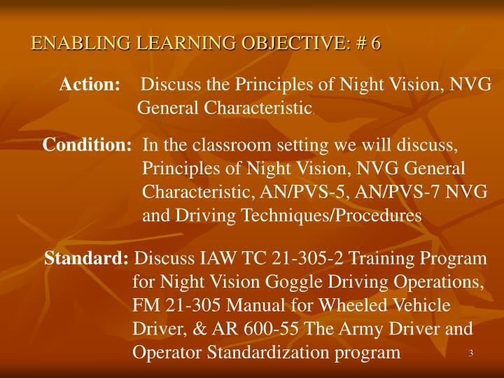 Enabling learning objective 6