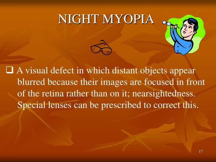 NIGHT MYOPIA