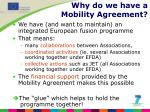 why do we have a mobility agreement