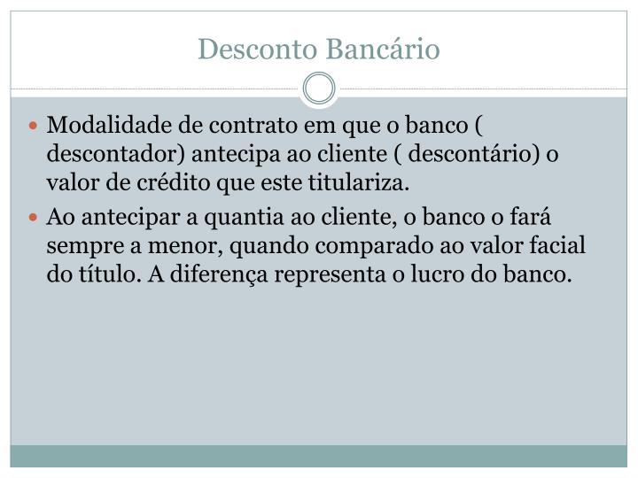 Desconto Bancário